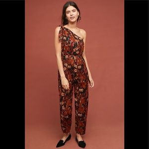 New Anthropologie Maeve Kyoto Floral Jumpsuit